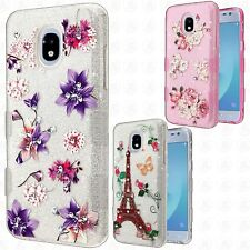 For Samsung Galaxy AMP Prime 3 TUFF SHINE Hybrid Hard Case Rubber Phone Cover