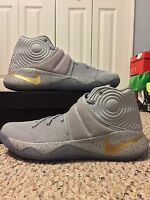 NEW NIKE KYRIE 2 sz 12 BATTLE GREY GOLD RING CEREMONY WHAT THE 3 TIME TO SHINE