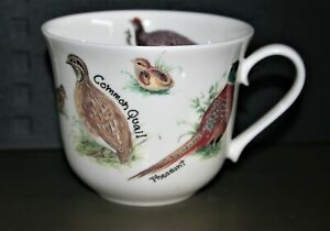 Roy Kirkham Large Breakfast Cup 'Game Birds' Fine Bone China NEW