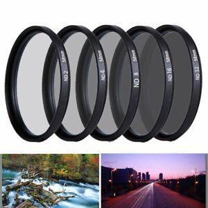 37 49 52 55 58 67 72 77 82mm Neutral Density ND 2 4 8 16 32 Lens Filter Camera
