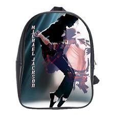 Michael Jackson POP Women Men School Leather Backpacks Travel Notebook Bags