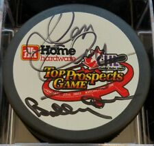 DON CHERRY   BOBBY ORR DUAL HOF ers SIGNED TOP PROSPECTS GAME HOCKEY PUCK  NO COA 4b783c35a