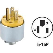 50 Pk Leviton NEMA 5-15P 3 Wire 2 Pole Armored Electric Cord Plug 000-515PA