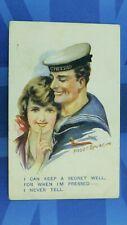 WW1 F Spurgin Military Comic Postcard Sweetheart Royal Navy Sailor HMS CHEERIO