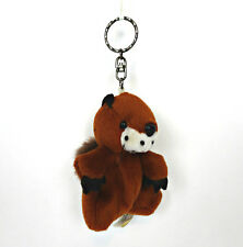 Groundhog Beaver Squirrel Keychain Plush Animal Rodent Mascot Toy Backpack Toy