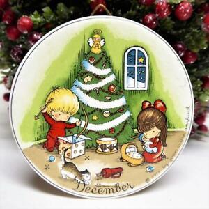 Joan Walsh Anglund DECEMBER Christmas Ornament Mini Wall Hanger W Germany