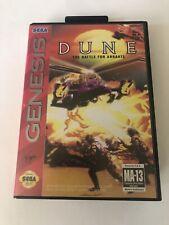 Dune Sega Genesis Box Case + Insert Artwork Only Original Authentic