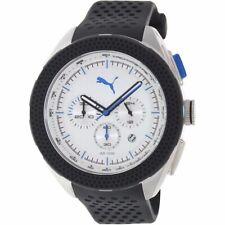Puma Men's Quartz PU103251004 Black Band White Dial Stainless Steel Analog Watch