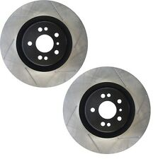 Pair Set of 2 Front StopTech Slotted Disc Brake Rotors for Mercedes W164 W251