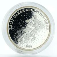 Argentina 1 peso Rally Dakar Argetina-Chile proof silver coin 2010