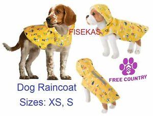 Free Country Buttercup Yellow Dog Raincoat Rain Parka Jacket Sizes XS, S NEW
