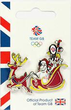 OLYMPIC GAMES TEAM GB PIN BADGE PRIDE THE LION CHRISTMAS SLEIGH PyeongChang 2018