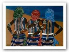 After the Ritual Sisterhood Signed William Kwamena-Poh Art Print 22x30