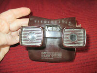 Vintage View-Master Model E 3-Dimension Viewer Brown Bakelite USA