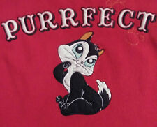 Purrfect Looney Tunes Embroidered Sweatshirt, Red Size S