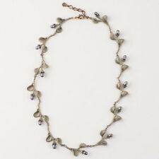 Michael Michaud - African Violet Leaves Necklace - Silver Seasons Jewelry