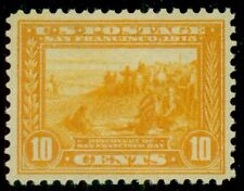 US #400 10¢ orange yellow, og, VLH, rich color and XF