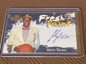 2015-16 Myles Turner Court Kings Fresh Paint Rookie RC Auto. Indiana Pacers