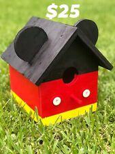 Mickey Mouse birdhouse feeder Decor, Garden, Home - New Handmade