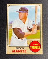 1968 Topps #280 MICKEY MANTLE New York Yankees NY Baseball Card - Nice