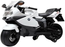 Battery Power White BMW Kids Ride On Realistic Motorcycle Pretend Play Vehicle