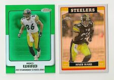 2006 HINES WARD TOPPS FINEST GREEN REFRACTOR #88~CHROME REFRACTOR #68 LOT OF 2
