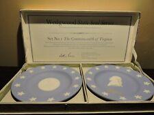 New ListingWedgwood Jasperware Virginia State Seal Series Plates With Original Box