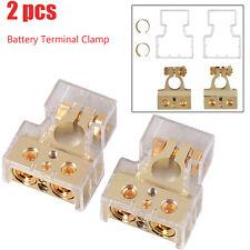 2x 4/8 oder 10 AWG Autobatterieklemme Plus Minusstecker Autobatterie Klemme Set
