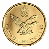BU 2006 Lucky Loonie Canada One Dollar $1 Loon coin Olympic Queen Elizabeth II