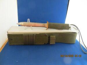 Vintage John EK Combat Knife SF4 SF 4 Olive Drab