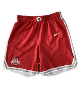 NWT Nike Ohio State Buckeyes Men's Basketball Shorts Scarlet Grey White Size L