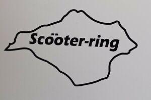 "Isle of Wight scootering 6 x 3.5"" lambretta vespa Camper Van car  Decal bike"