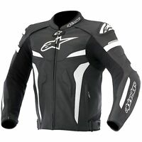 Alpinestars Celer Black/White Leather Sports Motorcycle Jacket with Hump Size 52