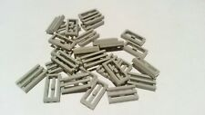 30x Light (Blue) Grey, Lego Flat Grille Plates, used (ST418)