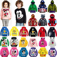 Kids Boys Girls Long Sleeve Hoodie Sweatshirt Hooded Sweater Coat Pullover Tops