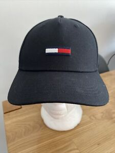 TOMMY HILFIGER Black Adjustable Baseball Cap One Size