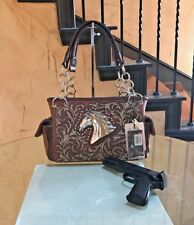 Montana West® Horse Head Embroidery Concealed Carry Gun Shoulder Handbag/Purse