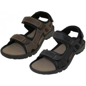 Men's Rubber Sport Sandals Shoes Adjustable Black or Dark Brown Sizes 7-13 New