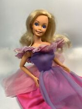 1985 Gift Giving Barbie Doll in pretty purple Dress  Superstar Face Mold
