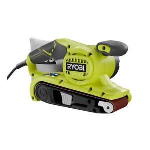 RYOBI Portable Belt Sander 6-Amp Gripzone Corded Dust Bag Variable Speed Handle