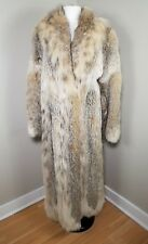 "GENUINE CANADIAN LYNX FUR LONG COAT size L 50"" length"