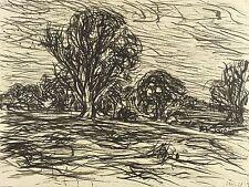 MAX UHLIG - Landschaft bei Freienbrink - Tuschezeichnung 1968