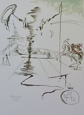 SALVADOR DALI Don Quichotte HAND NUMBERED PLATE SIGNED LITHOGRAPH Don Quixote