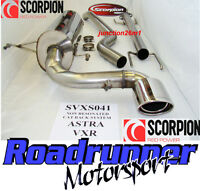 """Scorpion SVXS041 Astra VXR H MK5 Cat Back Exhaust System 2.5"""" Stainless Non Res"""