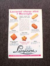 M203- Advertising Pubblicità -1960- LAZZARONI LE SETTE MERAVIGLIE , BISCOTTI