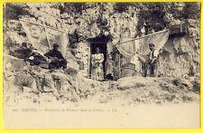 cpa 76 - DIEPPE (Seine Maritime) HABITATION de PÊCHEURS dans la FALAISE