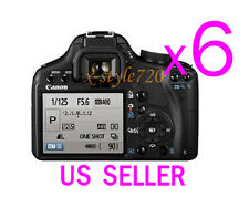 6x Clear LCD Screen Protector Guard Cover Film For Canon EOS 500D Rebel T1i