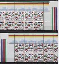 Bund 1954 total verschnittene 10er-Bögen postfr. Attestkp. Schlegel BPP(B03085)