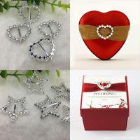 30X Plastic Buckle Invitation Ribbon Slider Embellishment For Wedding Supplies