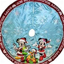 MICKEY,MINNIE & PLUTO  DISNEY SATIN ROUND CHRISTMAS TREE SKIRT LAST 1